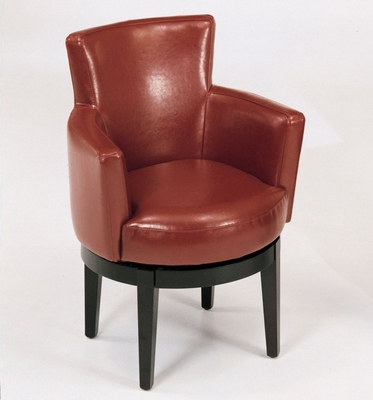 247 Swivel Club Chair in Red Leather - Armen Living - LC247ARSWRE