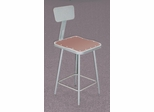 "25""-33"" Adjustable Lab Stool with Backrest - National Public Seating - 6324HB"