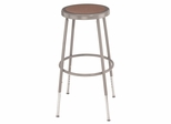 "25""-33"" Adjustable Lab Stool with Hardboard Seat - National Public Seating - 6224H"