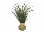 "27"" Grass with Mini Cattails Silk Plant in Green - Nearly Natural - 4730"