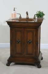 27 Inch Vanity in Distressed Walnut - Ultimate Accents - 12866S
