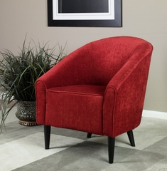 278 Orion Club Chair in Red Chenille - Armen Living - LC278CLRE