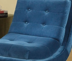 281 5Th Avenue Armless Swayback Lounge Chair in Cerulean Blue Fabric / Ebony - Armen Living - LC281FABL