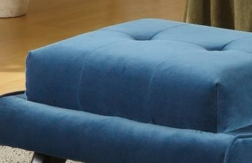 281-O 5Th Avenue Ottoman in Cerulean Blue Fabric / Ebony - Armen Living - LC281OTBL