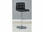 "29"" Adjustable Height Barstool in Black - Set of 2 - 102554"
