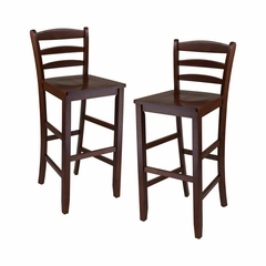 "29"" Bar Ladder Back Stool Set of 2 - Winsome Trading - 94249"