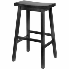 "29"" Black Stool with Saddle Seat - Winsome Trading - 20089"