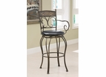 "29"" Decorative Metal Barstool in Bronze - 102585"