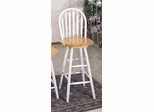 29 Inch Arrow Back Windsor Bar Stool with Swivel Seat in Natural / White - Coaster