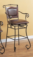 29 Inch Bar Stool in Chocolate Brown - Coaster