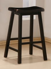 29 Inch Bar Stool (Set of 2) in Black - Coaster