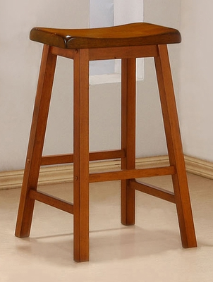 29 Inch Bar Stool (Set of 2) in Oak - Coaster