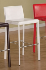 29 Inch Bar Stool (Set of 2) in White - Coaster