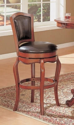 29 Inch Swivel Bar Stool in Cherry - Coaster