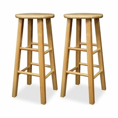 "29"" Kitchen Stools Natural Beechwood Set of 2 - Winsome Trading - 83230"