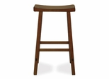 "29"" Saddle Seat Stool in Rustic Oak - 1S43-683"