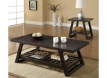 2PC Brown Coffee and End Table Set - 701867