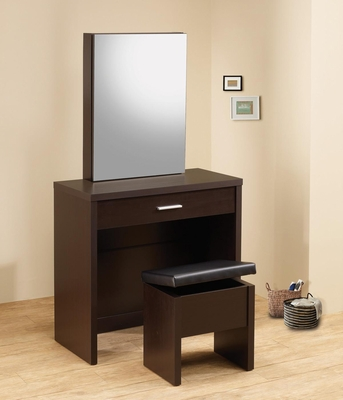 2PC Cappuccino Vanity Set with Hidden Mirror Storage  - 300289