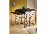 2PC Nesting Table Set with Black Tops - 901043