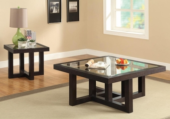 2PC Occasional Table Set with Tempered Glass Top - 701767