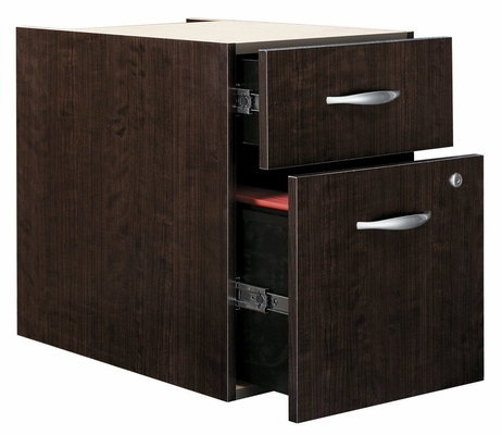 3/4 Pedestal (Assembled) - Series C Mocha Cherry Collection - Bush Office Furniture - WC12990SU