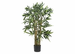 3' Biggy Bamboo Silk Tree in Green - Nearly Natural - 5281