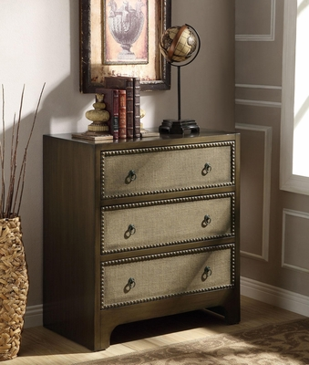 3 Drawer Cabinet with Linen Drawer Fronts - 950206
