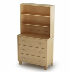 3 Drawer Chest with Hutch in Maple - South Shore Furniture - 3613363