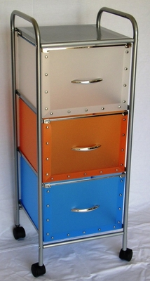 3 Drawer Chest with Multi Color drawers - 4D Concepts - 363020