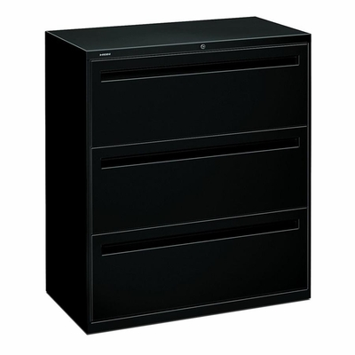 3-Drawer Lateral File - Black - HON783LP