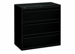 3-Drawer Lateral File - Black - HON793LP