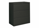 3-Drawer Lateral File W/Lock - Charcoal - HON883LS