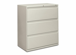 3-Drawer Lateral File W/Lock - Light Gray - HON883LQ
