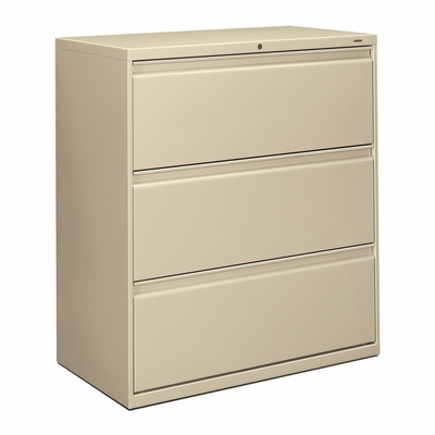 3-Drawer Lateral File W/Lock - Putty - HON883LL