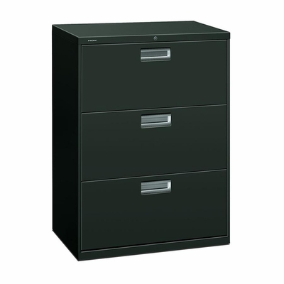 3 Drawer Locking Lateral File Cabinet in Charcoal - HON673LS