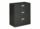 3 Drawer Locking Lateral File Cabinet in Charcoal - HON683LS