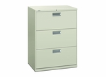 3 Drawer Locking Lateral File Cabinet in Gray - HON673LQ