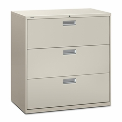 3 Drawer Locking Lateral File Cabinet in Gray - HON693LQ