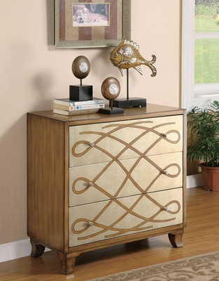 3 Drawer Scroll Front Accent Cabinet - 950086
