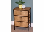 3 Drawer Wicker Stand in Wicker/Metal - 4D Concepts - 263069