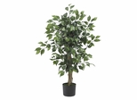 3' Ficus Silk Tree in Green - Nearly Natural - 5298