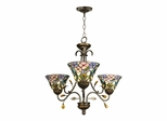 3-Light Crystal Peony Fixture - Dale Tiffany