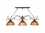 3-Light Garden Leaf Fixture - Dale Tiffany