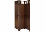 3-Panel Wood Folding Screen - Winsome Trading - 94370