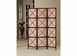 3 Panel X Pattern Folding Screen in Dark Cherry - 900165