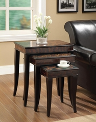 3 Piece Animal Print Nesting Table Set - 901046