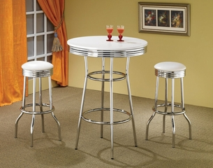 3-Piece Bar Table and Stool Set - Coaster