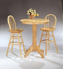 3-Piece Bar Table and Stool Set in Natural - Coaster