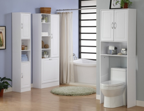 3-Piece Bathroom Furniture Set in White - 4D Concepts - 76400-SET