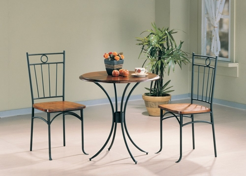 3-Piece Bistro Dining Set in Natural Oak - Coaster